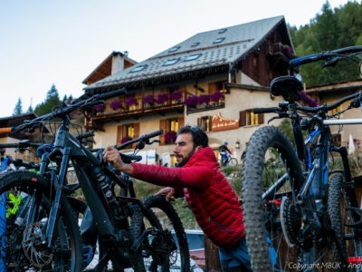 enduro ebike in the alps